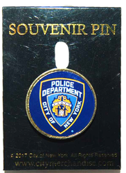 NYPD Blue Lapel Pin with Card Photo