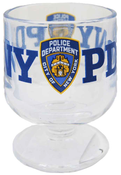 NYPD Clear Logo/ Shield Brandy Glass