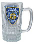 NYPD Clear Logo/ Shield Beer Mug