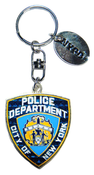 NYPD Blue Shield Magic Glitter Key Ring with Tag