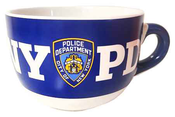 NYPD Blue/ White Inside Logo/ Shield Soup Mug