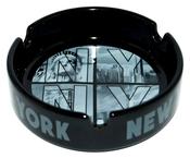 Black NY Photo Window Letters Ashtray