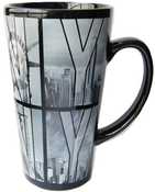Black B&W NY Photo Window Letters Java Mug