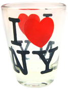 Mini Clear I Love NY Shot Glass
