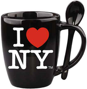 I Love NY Blue Mug with Blue Inside & Spoon