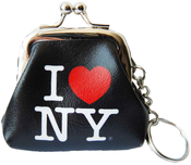 I Love NY Black Coin Purse with Key Chain