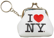 I Love NY White Coin Purse with Key Chain