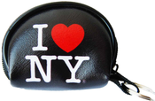 I Love NY Black Dome Coin Purse with Key Chain