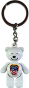 FDNY White/ Logo Bear Key Ring