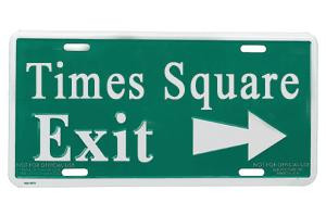 Times Square Exit Sign photo