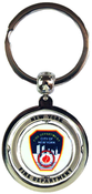FDNY White Double Sided Spinner Key Ring