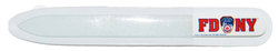 FDNY White Glass Nail File with Logo  Photo
