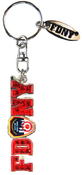 FDNY Red Logo Magic Glitter Key Ring with Tag