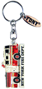 FDNY Fire Truck Magic Glitter Key Ring with Tag