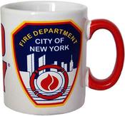 FDNY White/Red Handle 11oz Mug