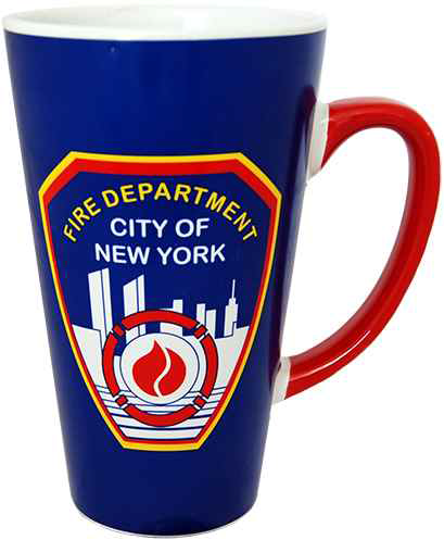 FDNY Blue/ Red Handle Java Mug photo