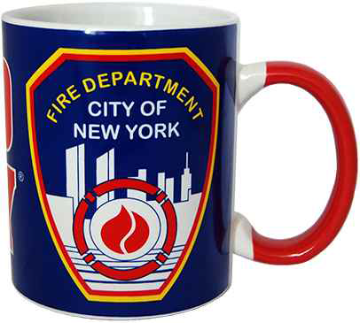 FDNY Blue/Red Handle Mini Mug photo