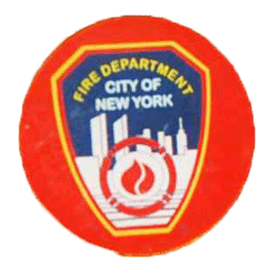 FDNY Red Lapel Pin with Card photo