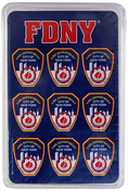 FDNY Blue Playing Cards Set in Frosted Case