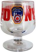 FDNY Clear Logo/ Shield Brandy Glass