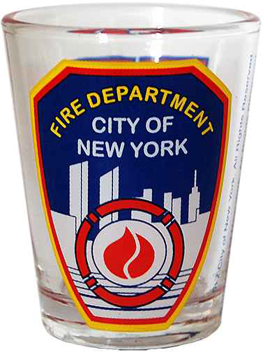 FDNY Clear with Logo/ Shield Shot Glass  photo