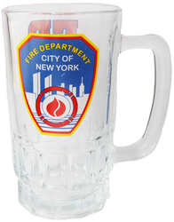 FDNY Clear with Logo/ Shield Beer Mug Photo