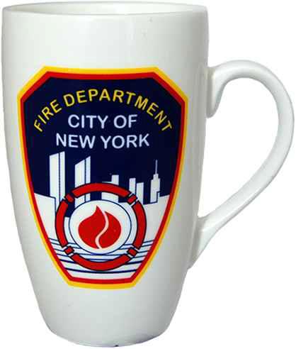 FDNY White Logo/ Shield Slim Java Mug photo
