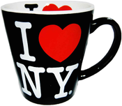 I Love NY Black/ White Inside Full Print Java Mug