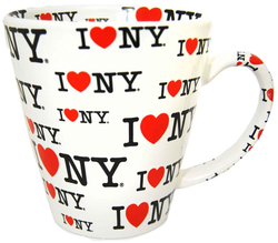 I Love NY White/ White Inside Full Print All Over Java Mug Photo