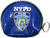 NYPD Blue Vinyl Coin Purse with Zipper