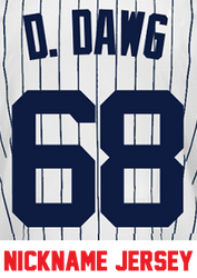 D. Dawg Jersey - Dellin Betances Yankees Adult Nickname Home Jersey Photo
