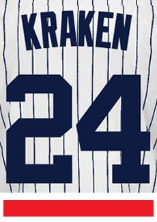 best authentic b1d44 ea5ac Kraken Jersey - Gary Sanchez Yankees Adult Nickname Home Jersey