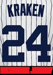 Kraken Jersey - Gary Sanchez Yankees Adult Nickname Home Jersey Photo
