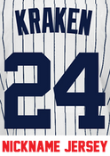 Kraken Jersey - Gary Sanchez Yankees Adult Nickname Home Jersey