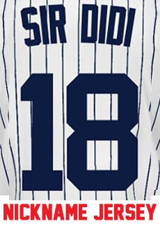 reputable site 31079 260da Sir Didi Jersey - Didi Gregorius Yankees Adult Nickname Home Jersey