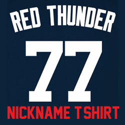 Red Thunder Ladies T-Shirt - Navy Clint Frazier Yankees Womans Nickname T-Shirt  Photo