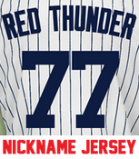 Red Thunder Ladies Jersey - Clint Frazier Yankees Womans Nickname Home Jersey