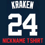 Kraken Ladies T-Shirt - Navy Gary Sanchez Yankees Womans Nickname T-Shirt