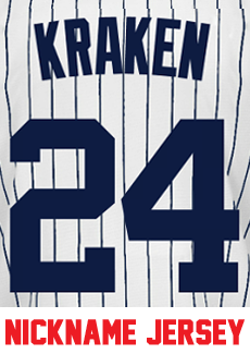 8e20217ac Kraken Ladies Jersey - Gary Sanchez Yankees Womans Nickname Home Jersey  Photo. Loading zoom