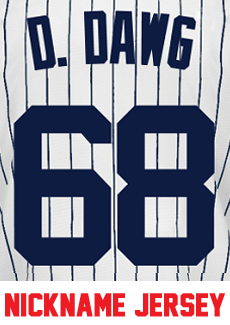 D. Dawg Ladies Jersey - Dellin Betances Yankees Womans Nickname Home Jersey  photo