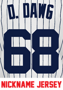 D. Dawg Ladies Jersey - Dellin Betances Yankees Womans Nickname Home Jersey