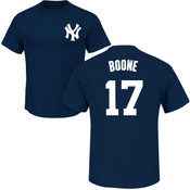 Aaron Boone T-Shirt - Navy NY Yankees Adult T-Shirt