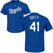 Danny Duffy T-Shirt - Blue Kansas City Royals Adult T-Shirt