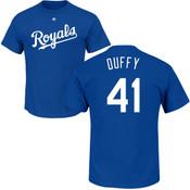 Danny Duffy T-Shirt - Blue Kansas City Royals Adult T-Shirt