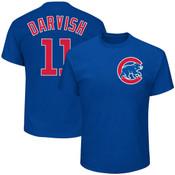 Yu Darvish Youth T-Shirt - Blue Chicago Cubs Kids T-Shirt