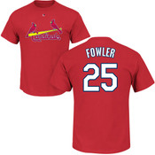 Dexter Fowler T-Shirt - Red St Louis Cardinals Adult T-Shirt