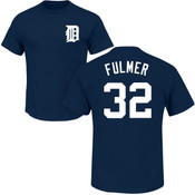 Michael Fulmer Youth T-Shirt - Navy Detroit Tigers Kids T-Shirt