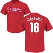 Cesar Hernandez T-Shirt - Red Philadelphia Phillies Adult T-Shirt
