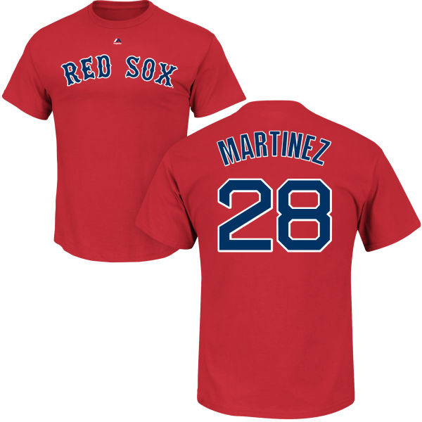 J.D. Martinez Youth T-Shirt - Navy Boston Red Sox Kids T-Shirt photo