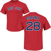J.D. Martinez Youth T-Shirt - Navy Boston Red Sox Kids T-Shirt